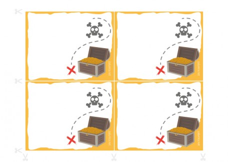 Invitaciones de cumpleaños imprimibles - El tesoro pirata